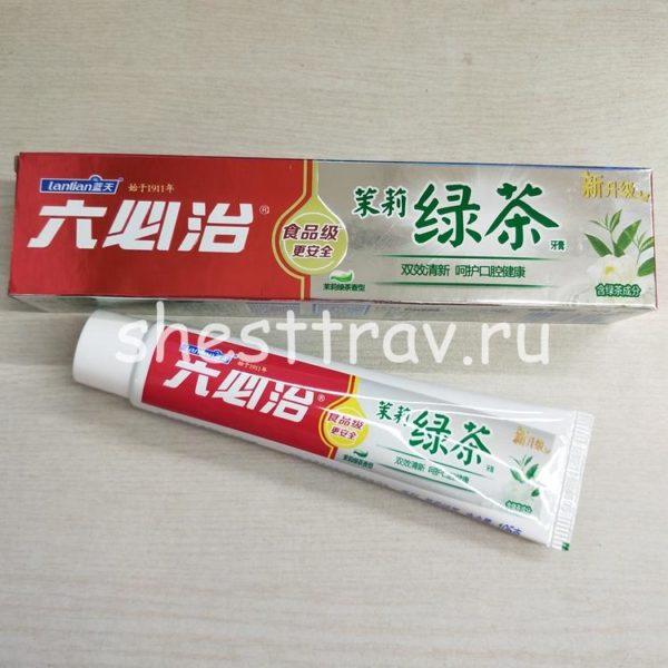 Любичжи с жасмином и зеленым чаем
