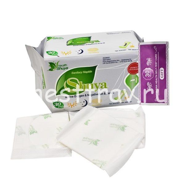 Shuya ежедневные прокладки с ионами серебра